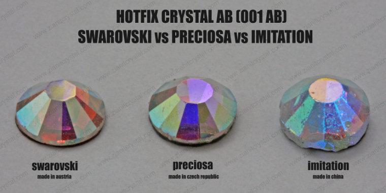 Swarovski vs Preciosa Crystal AB