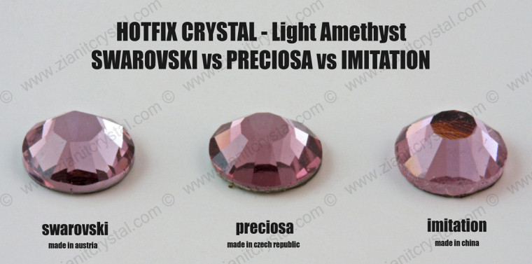 Swarovski vs Preciosa Crystal - Light Amethyst